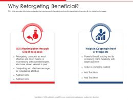 Why Retargeting Beneficial Helps Past Ppt Powerpoint Presentation Good