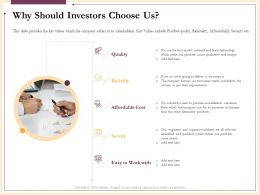 Why Should Investors Choose Us Affordable Ppt Powerpoint Presentation Professional