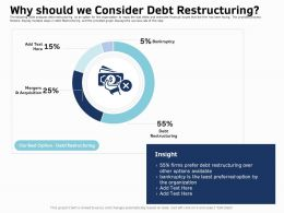 Why Should We Consider Debt Restructuring Ppt Inspiration Microsoft