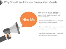 Why Should We Hire You Presentation Visuals
