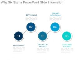Why Six Sigma Powerpoint Slide Information