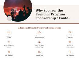 Why Sponsor The Event For Program Sponsorship Contd L1567 Ppt Powerpoint Design