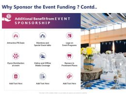 Why Sponsor The Event Funding Contd L1453 Ppt Powerpoint Presentation Files