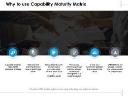 Why To Use Capability Maturity Matrix