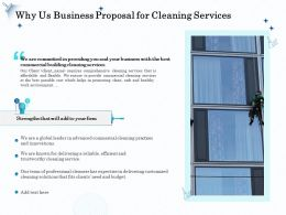 Why Us Business Proposal For Cleaning Services Ppt Outline