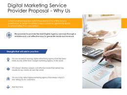 Why Us Digital Marketing Service Provider Proposal Ppt Powerpoint Presentation Outline Images
