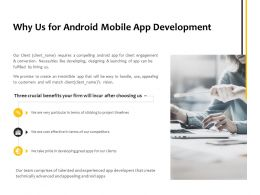 Why Us For Android Mobile App Development Ppt Powerpoint Presentation Layouts Inspiration
