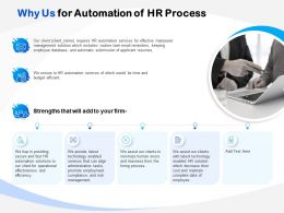 Why Us For Automation Of HR Process Ppt Powerpoint Presentation File Format