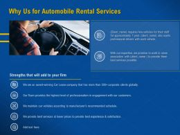 Why Us For Automobile Rental Services Award Winning Ppt Presentation Summary Grid