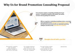 Why Us For Brand Promotion Consulting Proposal Ppt Powerpoint Presentation Gallery Graphic