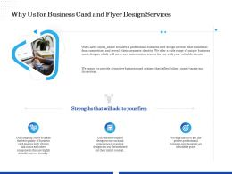 Why Us For Business Card And Flyer Design Services Ppt Ideas