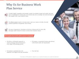 Why Us For Business Work Plan Service Ppt Powerpoint Presentation Summary Maker