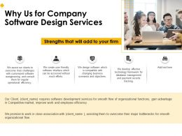 Why Us For Company Software Design Services Ppt File Design