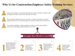 Why Us For Construction Employee Safety Training Services Ppt File Elements