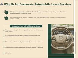 Why Us For Corporate Automobile Lease Services Ppt Templates