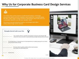 Why Us For Corporate Business Card Design Services Ppt Icon Inspiration