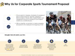 Why Us For Corporate Sports Tournament Proposal Ppt Powerpoint Presentation Icon Microsoft