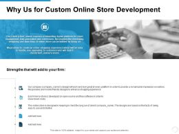 Why Us For Custom Online Store Development Ppt Powerpoint Presentation