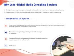 Why Us For Digital Media Consulting Services Ppt Icon