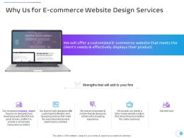 Why Us For E Commerce Website Design Services Ppt Powerpoint Presentation Pictures Aids