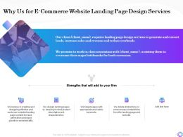 Why Us For E Commerce Website Landing Page Design Services Bottlenecks Ppt Aids Infographics