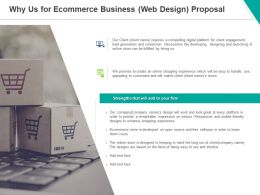 Why Us For Ecommerce Business Web Design Proposal Ppt Powerpoint Presentation Model Pictures