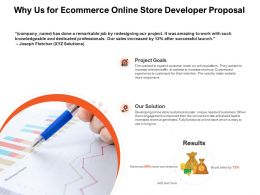 Why Us For Ecommerce Online Store Developer Proposal Goals Ppt Powerpoint Presentation Show