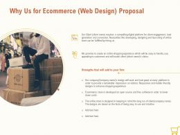 Why Us For Ecommerce Web Design Proposal Ppt Powerpoint Presentation Pictures
