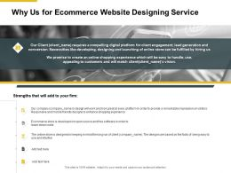 Why Us For Ecommerce Website Designing Service Powerpoint Slides