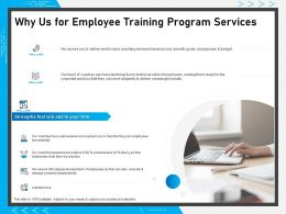 Why Us For Employee Training Program Services Ppt Powerpoint Presentation File Brochure