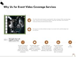 Why Us For Event Video Coverage Services Ppt Powerpoint Presentation File Example
