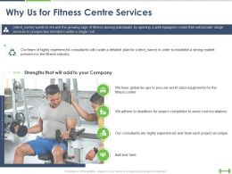 Why Us For Fitness Centre Services Ppt Powerpoint Presentation Guidelines