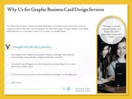 Why Us For Graphic Business Card Design Services Ppt File Slides