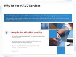 Why Us For HAVC Services Ppt Powerpoint Presentation Infographics Layouts