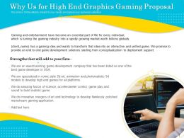 Why Us For High End Graphics Gaming Proposal Ppt File Slides