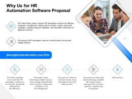 Why Us For HR Automation Software Proposal Ppt Inspiration