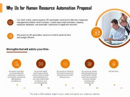 Why Us For Human Resource Automation Proposal Ppt Layouts