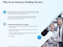 Why Us For Industry Profiling Services Ppt Powerpoint Presentation Icon Slideshow