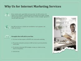 Why Us For Internet Marketing Services Ppt Powerpoint Presentation Icon Visuals