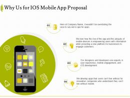 Why Us For IOS Mobile App Proposal Ppt Powerpoint Presentation Portfolio Inspiration