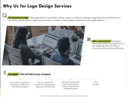 Why Us For Logo Design Services Ppt Powerpoint Presentation Gallery Example File