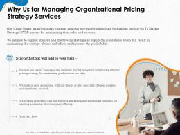 Why Us For Managing Organizational Pricing Strategy Services Ppt Gallery