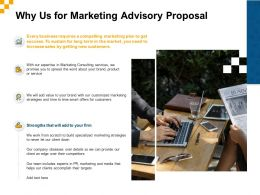 Why Us For Marketing Advisory Proposal Ppt Powerpoint Presentation Summary