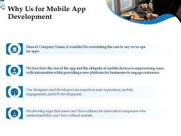 Why Us For Mobile App Development Ppt Powerpoint Presentation Slides Picture