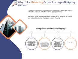 Why Us For Mobile App Screen Prototypes Designing Services Ppt Powerpoint Graphics