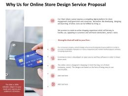 Why Us For Online Store Design Service Proposal Ppt Powerpoint Presentation File