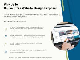 Why Us For Online Store Website Design Proposal Ppt Model