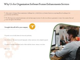 Why Us For Organization Software Feature Enhancements Services Ppt Powerpoint Pictures
