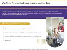 Why Us For Presentation Design Improvement Services Ppt Powerpoint Model Template