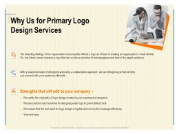 Why Us For Primary Logo Design Services Ppt Powerpoint Presentation Icon Influencers